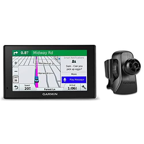 Garmin DriveSmart 51 NA LMT-S Vent Mount Bundle (010-01680-02) with Lifetime Maps/Traffic, Live Parking, Bluetooth,WiFi, Smart Notifications, Voice Activation, Driver Alerts