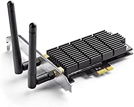 TP-Link AC1300 PCIe WiFi PCIe Card(Archer T6E)- 2.4G/5G Dual Band Wireless PCI Express Adapter, Low Profile, Long Range, Heat Sink Technology, Supports Windows 10/8.1/8/7/XP