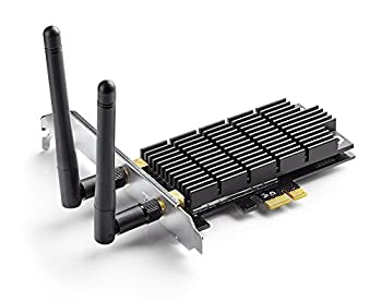 TP-Link AC1300 PCIe WiFi PCIe Card Archer T6E - 2.4G/5G Dual Band Wireless PCI Express Adapter Low Profile Long Range Heat Sink Technology Supports Windows 10/8.1/8/7/XP