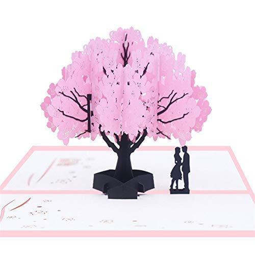 Sunneey LIN-POP UP 3D wenskaarten wenskaarten pensioen kaarten vakantiekaarten, kapok