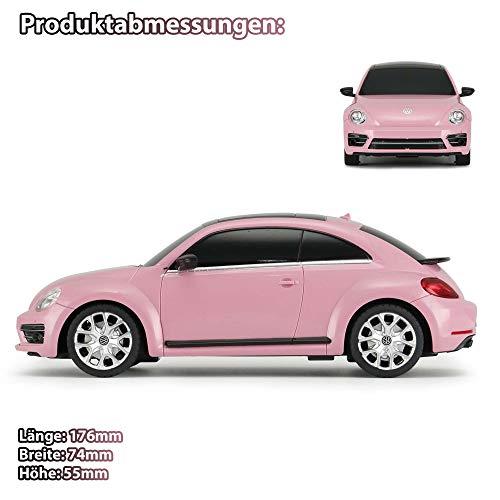 Himoto HSP RC ferngesteuertes Lizenz-Fahrzeug im Original Design in Pink Edition, Modell-Maßstab 1:24, Ready-to-Drive, Auto, Car, Modellbau inkl. Fernsteuerung