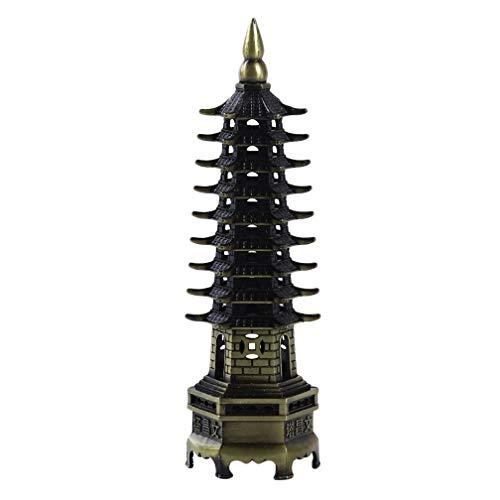 LJSLYJ Feng Shui Metall 3D Modell Pagode Turm Statue Handwerk Souvenir Dekoration Handwerk, 2#