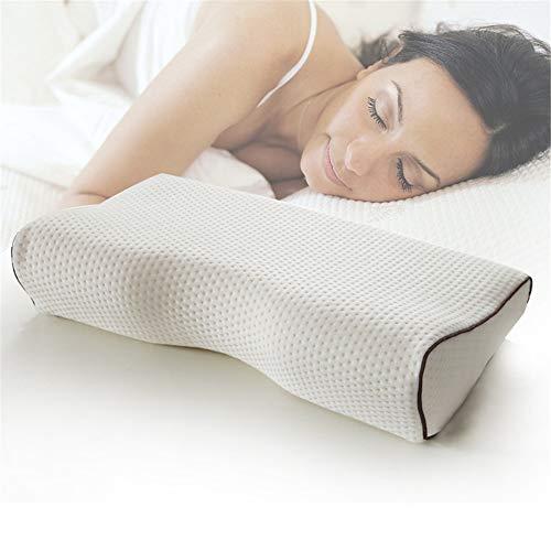 Almohada de Mariposa de Capa de Aire Almohada de Memoria de Rebote Lento Almohada de Cuello para Dormir
