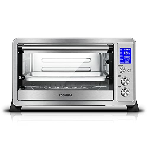 Toshiba AC25CEW-SS Digital Toaster Oven with...