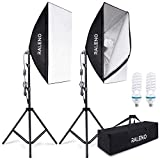 RALENO 800W Softbox Photography Lighting Kit 2X20X28 inch Professional Photography Continuous Lighting Equipment with 2...