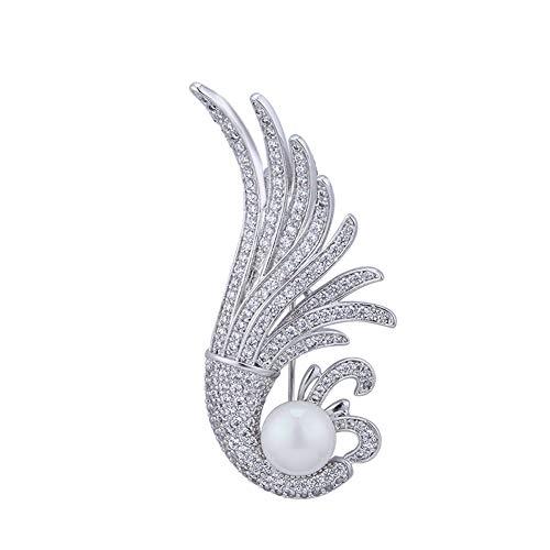 Simple Shell Parel Broche Pin Voor Dames Vrouwen, 18K Wit Goud Plating Broches Corsage, Sieraden Kleding Accessoires, Unique Holiday Voor Haar
