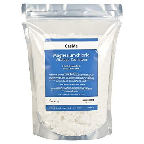 Magnesiumchlorid Vitalbad 2,5 kg - Original Zechstein Mineral - rein natürliches Magnesiumchlorid Hexahydrat zum Baden bzw. Fußbad - für Magnesiumöl geeignet - aus der Apotheke