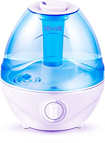 LEVOIT Humidifiers for Bedroom Large Room Home,2.4L Cool Mist Ultrasonic for Baby Kids Nursery, Ultra Quiet Operation Auto Shut off, Adjustable 360° Rotation Nozzle, Night Light Function, BPA Free