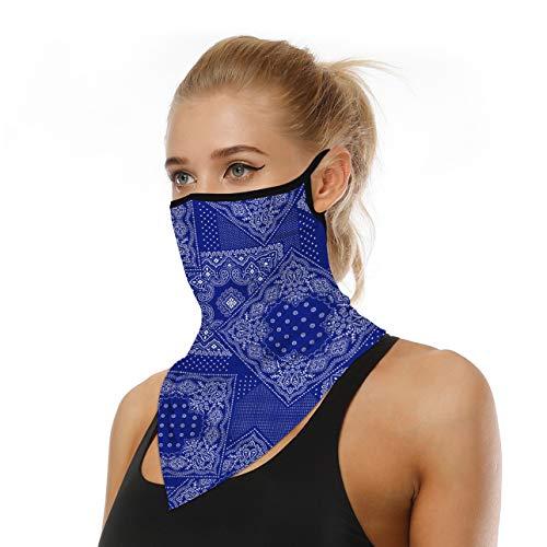 WOZNLOYE Face Shield - Pañuelo multifunción para motocicleta, unisex, protección facial, pañuelo para la cabeza, pañuelo triangular, Hombre, color A-8., tamaño Talla única