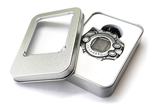 Decalism Digimon Adventure Tri Digivice Clip On & Necklace Made of Solid Zinc Alloys - Dark Grey