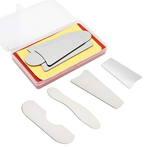 4 Stück Dental-Fotospiegel, kiefergerechte Innenaufnahme, mit Spiegel, Edelstahl, Laborausrüstung, Zahnweißgerät