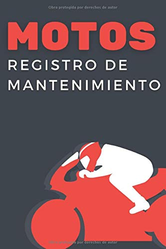 Registro De Mantenimiento Motos: Cuaderno de mantenimiento del Moto con páginas prefabricadas, 100 páginas para el seguimiento de la revisión y mantenimiento de su moto