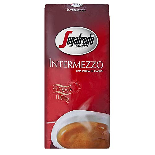 SEGAFREDO Intermezzo ESPRESSO ganze Bohne 4x1000g (4000g) - italienischer Kaffee