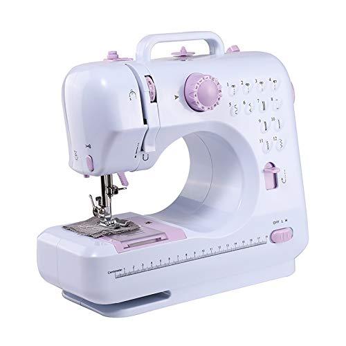 Mini Maquina de Coser Mini máquina portátil Máquina de coser doméstico Pequeña máquina de coser eléctrica Máquina de coser eléctrica Máquina de Coser Doméstica ( Color : White , Size : 32x15x30cm )