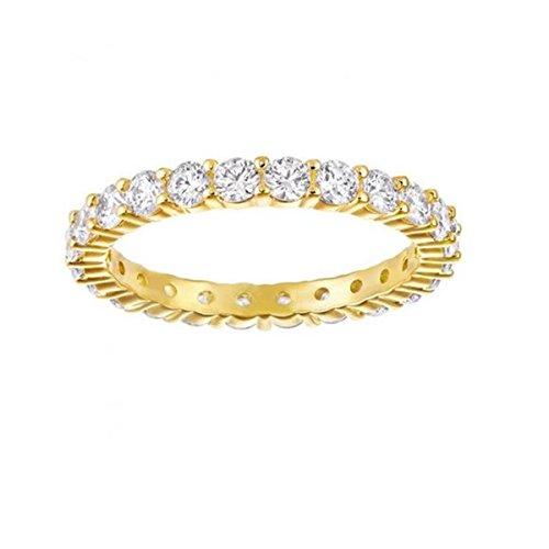 Swarovski Damen-Ring Vergoldet Kristall transparent Rundschliff 5257474
