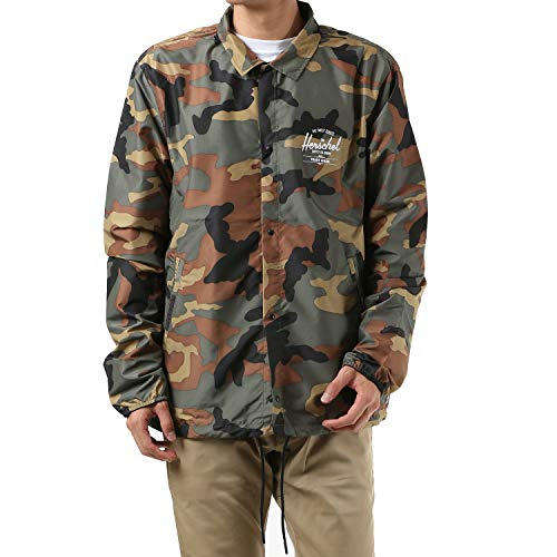 Herschel Men's Voyage Coaches, woodland camo/white print, Medium