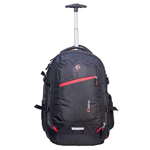 IStorm Laptop Trolley Backpack (Black & Red Zip)