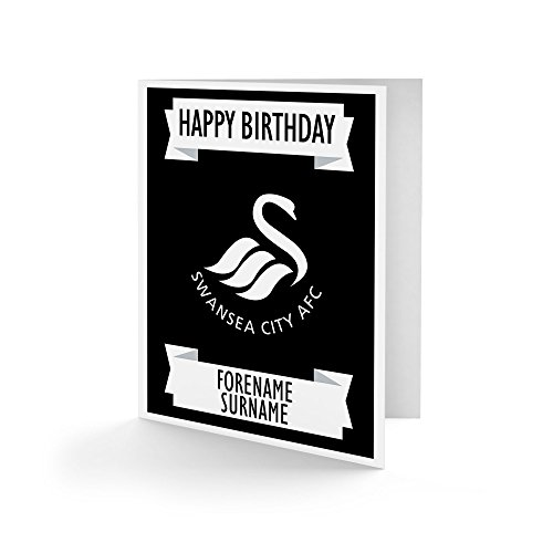 Official PERSONALISED Swansea City FC Crest Birthday Card