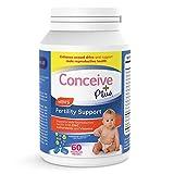 Conceive Plus Men's Fertility Vitamins – Boost Testosterone, Healthy Sperm Production – Zinc, Folate, Maca Root, Selenium Pills – 60 Vegetarian Soft Capsules
