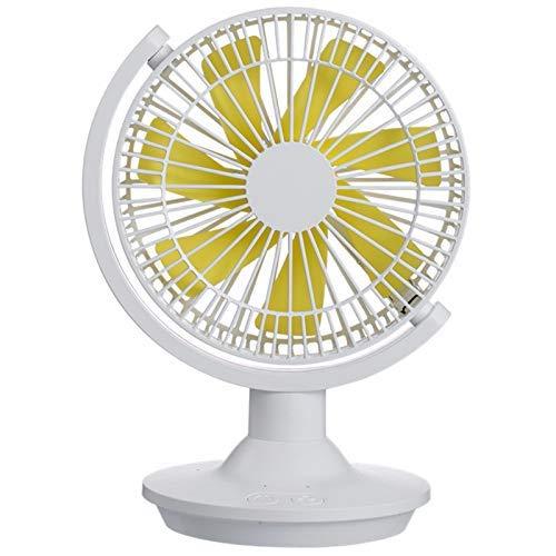 HYY-YY Ventilador de mesa recargable USB Ventilador portátil Ventilador giratorio de 360 grados con luz nocturna Ventilador de refrigeración de aire