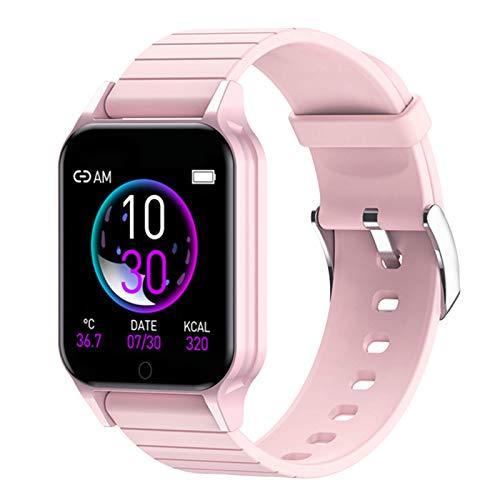 hgfhgf Smart Watch, Dial Custom Reate Heart Rate Sphygmomanometer Smartwatch De Bluetooth Deportes para Hombres Y Mujeres para Mujer para Android iOS,E