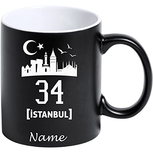 aina Tasse Kaffeetasse Kahve Cay Bardagi Bardak Hediye Matt Schwarz Türkei Flagge Motiv2 34 Istanbul