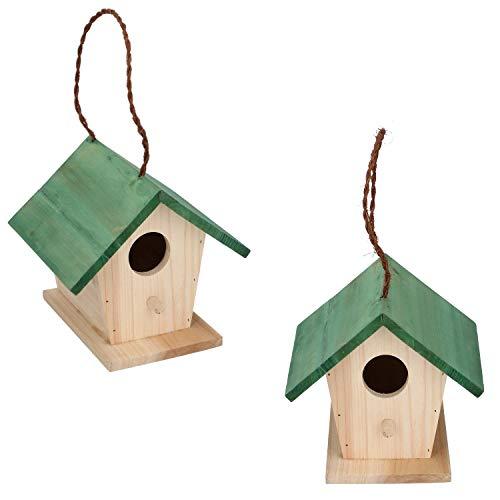 Stabiles Vogelhaus aus Holz zum Aufhängen, Vogelhäuschen für Balkon und Garten, Nistkasten, Nisthaus für Meisen