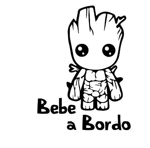 Pegatina Vinilo Bebe Groot a Bordo, Baby Groot on Board, Varios Tamaños