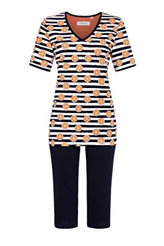 Ringella Pijama para mujer con pantalones pirata 1211203 coral 52