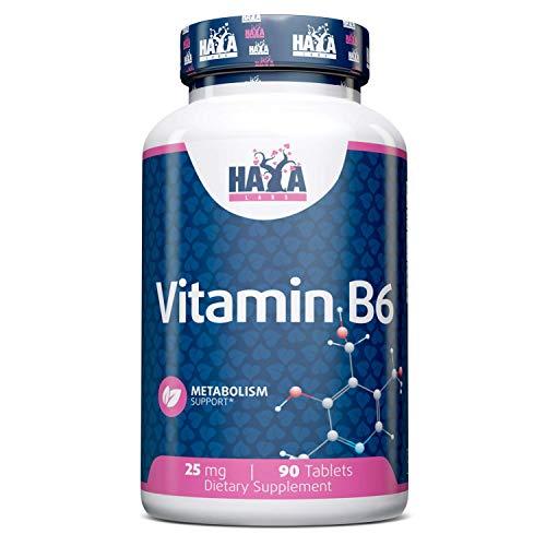 Haya Labs Vitamin B6 25mg 90 Tablets