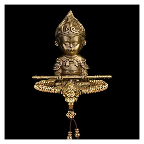 SERBHN Decoración De La Estatua De Buda Decoración del Coche Fengshui Buda Estatua + Pulsera Latón Budista Estatuas Artesanía Adorno Decorativo