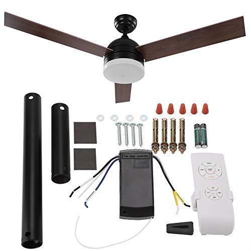 Ventilador de techo, 52 pulgadas, ventilador de techo Blades, luz LED con mando a distancia