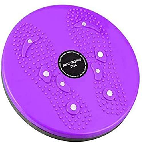 Gyt& Body Sculpture Massage Figure Twister, Twist Board con riflessi Magnete Punti per la Vita e Fianchi Twist Board per Esercizi per Fitness ed Esercizio,Viola