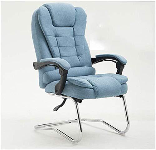 Rollsnownow Computer Stuhl, Ergonomischer Executive Office Chair - High-Back Office Schreibtisch Stühle Leder Computer Stuhl Neigungswinkel verstellbar und Flip-up Arme Big Sessel (Size : Blue)