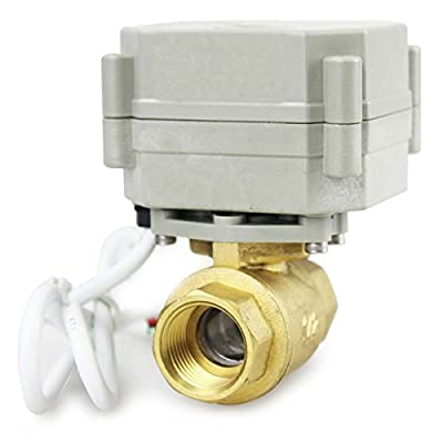 "HSH-Flo 2 Way 1/2"" 3/4"" 1"" 1-1/4"" 110-230VAC Brass On/Off Auto Return Electrical Position Feedback Motorized Ball Valve (1-1/4 Inch) from HSH-Flo"