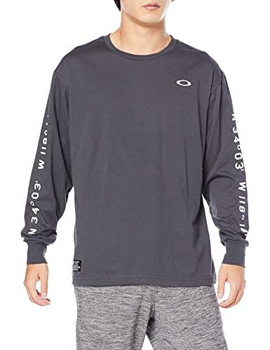 [オークリー] Tシャツ ENHANCE FGL LONG TEE 1.0 DARK CLOUD US サイズ XL (日本サイズ2XL相当)