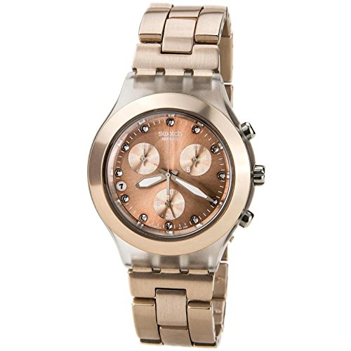 Swatch Full Blooded SVCK4047AG - Reloj unisex, color marrón