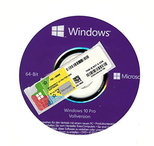 Microssoft Windows10 Pro COA /OEM Sticker und 64 Bit DVD Betriebssystem
