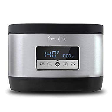 Dash Chef Series Stainless Steel Sous Vide, 8.5 Quart, Temperature Control for Steak/Poultry/Seafood/Vegetables