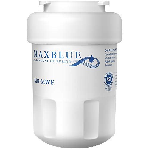 Maxblue MWF Refrigerator Water Filter, Replacement for GE Smart Water MWF, MWFINT, MWFP, MWFA, GWF, HDX FMG-1, GSE25GSHECSS, WFC1201, RWF1060, 197D6321P006, Kenmore 9991, r-9991