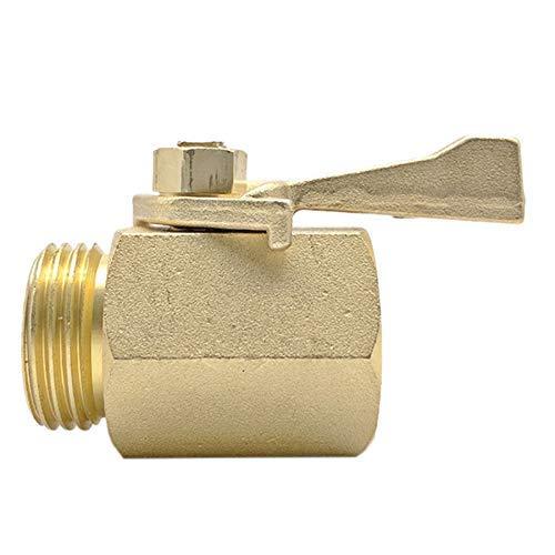 SUNTAOWAN Válvula 3/4 Pulgadas de la Manguera de jardín del Tubo de Agua del Grifo de válvula de latón Grifos de Distribuidor con Interruptor de Apagado-Nosotros