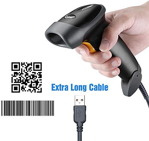 Eyoyo バーコードスキャナー USB 有線 2D ハンドヘルド自動1D 2D QRバーコードリーダー CCD PDF417 データ マトリックスバーコードスキャン 日本語取扱説明書付き 図書館・店舗・オフィス・物流・倉庫、検品、棚卸し等などに適用