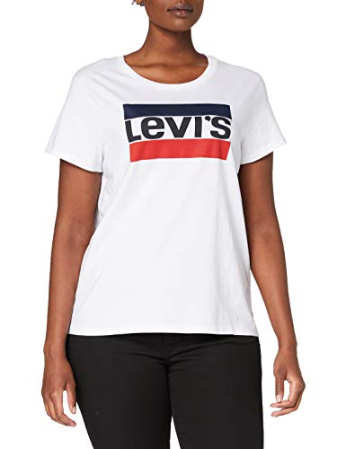 Levi\'s Damen The Perfect Tee T-Shirt, Sportswear Logo White, L