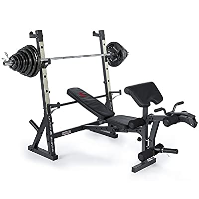 Marcy Diamond Elite Olympic Weight Bench with Squat Rack by Marcy