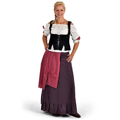 Posadera - Disfraz medieval Mujer - Blusa, Falda y Corpiño - XS