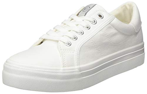 Tamaris Damen 1-1-23602-24 Sneaker, Weiß (White 100), 37 EU