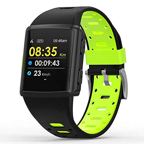Sailormjy Fitnesstracker, fitnessarmband, GPS Health Monitoring oproepen, waterdichte meertalige ondersteuning B