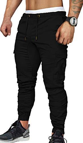 CARETOO Jogger Cargo Herren Hosen Chino Jeans Fitness Sport Trekking Stretch Freitzeithose Streetwear Hosen für Alle Jahreszeiten