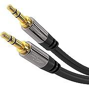 KabelDirekt 3m Câble Jack Audio Stéréo (3.5mm Jack vers 3.5mm Jack, câble auxiliaire) PRO Series