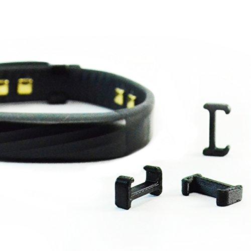 Jawbone Aktivität Clip Cover Ersatz Verschluss Schnalle Schließe für 2015Jawbone Up2UP3UP4Fitness Handschlaufe Activity Tracker, schwarz, 3-Pack